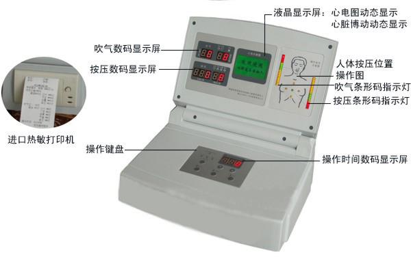 液晶显示高级电脑心肺复苏模拟人显示器
